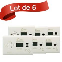 Lot de 6 détecteurs de Monoxyde de Carbone Kidde 7DCO
