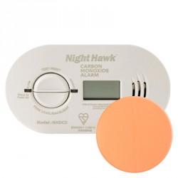 Détecteur de Monoxyde de Carbone Kidde NightHawk avec autocollant de fixation