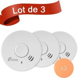 Lot de 3 détecteurs de fumée Kidde 10Y29 avec autocollant de fixation