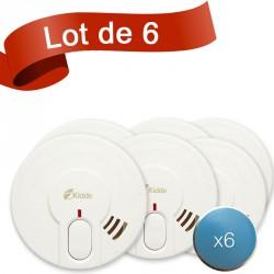Lot de 6 détecteurs de fumée Kidde 29-FR avec système de fixation aimanté