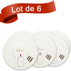 Lot de 6 détecteurs de fumée Kidde 29-FR