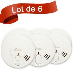 Lot de 6 détecteurs de fumée Kidde 29HLD-FR