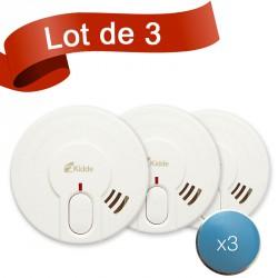 Lot de 3 détecteurs de fumée Kidde 29LD-FR avec système de fixation aimanté