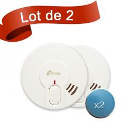 Lot de 2 détecteurs de fumée Kidde 29-FR avec système de fixation aimanté