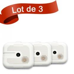 Lot de 3 détecteurs de fumée Ei Electronics EI3105RF
