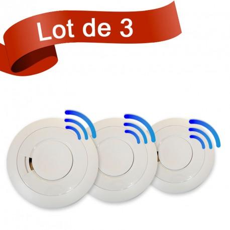 Lot de 3 détecteurs de fumée EI Electronics EI605TYCRF