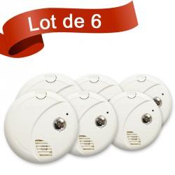 Lot de 6 détecteurs de fumée First Alert SA720CE