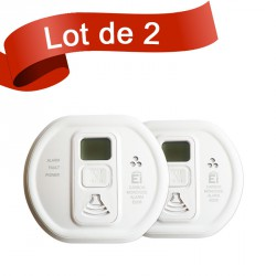 Lot de 2 détecteurs de monoxyde de carbone Ei Electronics EI208DW
