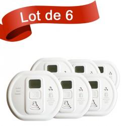 Lot de 6 détecteurs de monoxyde de carbone Ei Electronics EI208DW