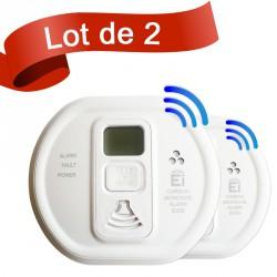 Lot de 2 détecteurs de monoxyde de carbone Ei Electronics EI208DWRF