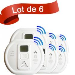 Lot de 6 détecteurs de monoxyde de carbone Ei Electronics EI208DWRF