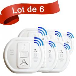 Lot de 6 détecteurs de monoxyde de carbone Ei Electronics EI208WRF