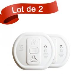 Lot de 2 détecteurs de monoxyde de carbone Ei Electronics EI208W