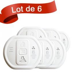 Lot de 6 détecteurs de monoxyde de carbone Ei Electronics EI208W