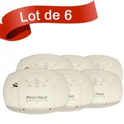 Lot de 6 détecteurs de monoxyde de carbone First Alert CO400CE