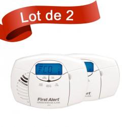 Lot de 2 détecteurs de monoxyde de carbone First Alert CO410CE