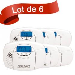 Lot de 6 détecteurs de monoxyde de carbone First Alert CO410CE