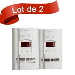 Lot de 2 combi détecteur de Monoxyde de Carbone et de Gaz Kidde 900-0113
