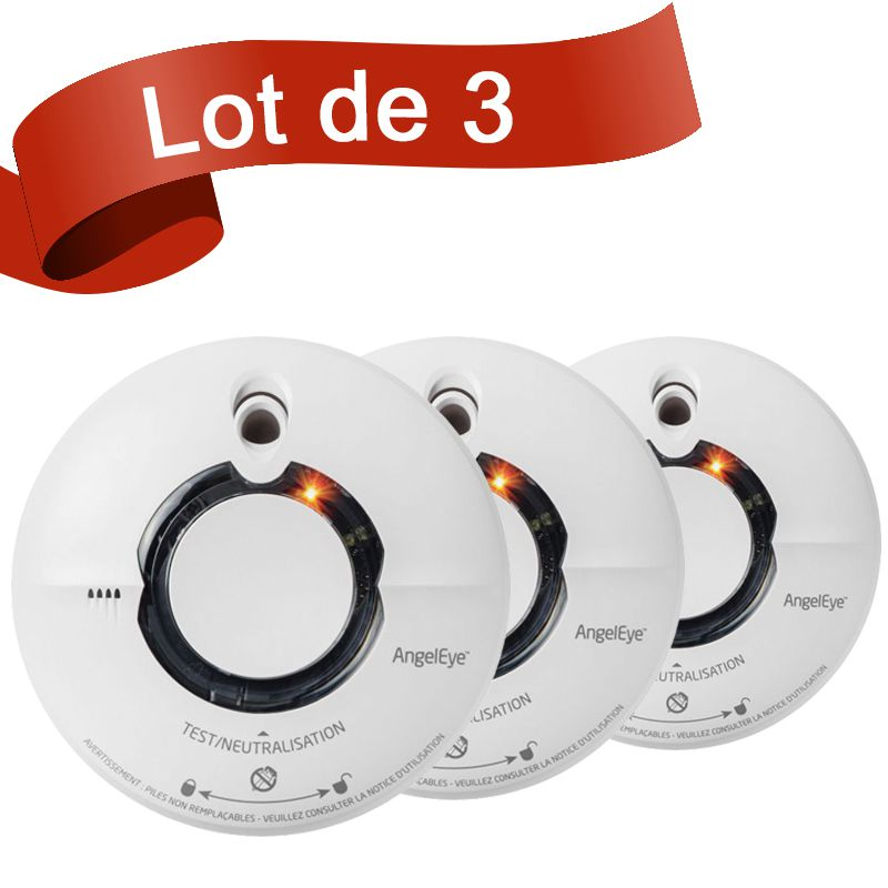Lot de 3 d tecteurs de fum e interconnectables fire angel st630 - Loi sur detecteur de fumee ...