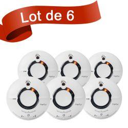 Lot de 6 détecteurs de fumée interconnectables Fire Angel ST630