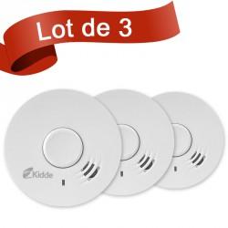 Lot de 3 détecteurs de fumée Kidde 10Y29