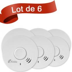 Lot de 6 détecteurs de fumée Kidde 10Y29