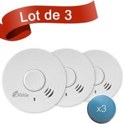 Lot de 3 détecteurs de fumée Kidde 10Y29 avec système de fixation aimanté
