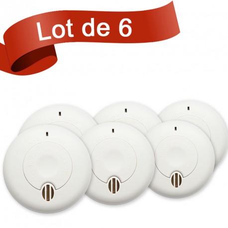 Lot de 6 détecteurs de fumée BRK SA410